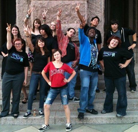 A past Changing Lives Youth Theatre Ensemble cast