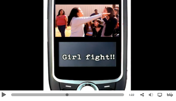 Other students created PSAs, like this one from Akins High School about sexting and cyberbullying