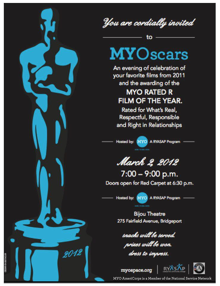 Invitation to MYO Oscars event for youth