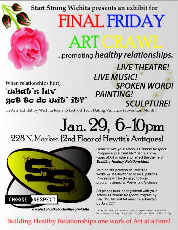 Flyer from Start Strong Wichita arts event
